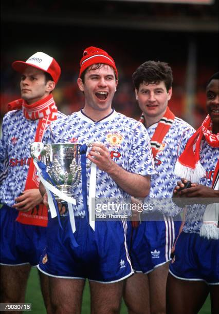 Sport Football Rumbelows League Cup Final Wembley London England 12th April 1992 Manchester United 1 v Nottingham Forest 0 Manchester United's...
