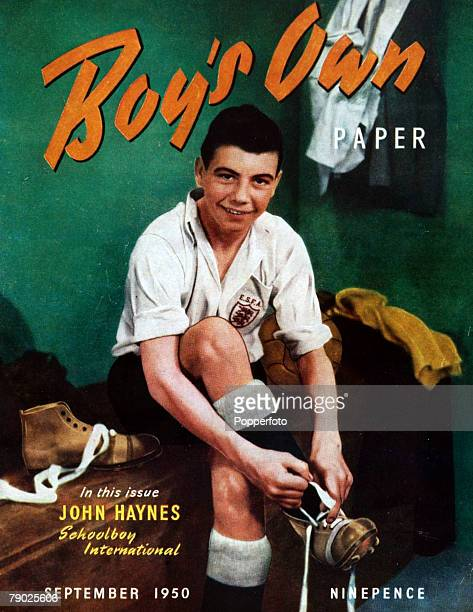 Sport Football September 1950 A young Johnny Haynes pictured as an England Schoolboy International on the front cover of the 'Boys Own' paper Haynes...