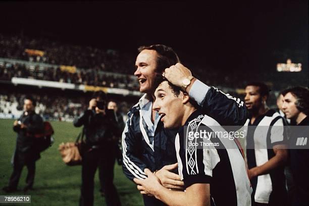 Sport Football Spain UEFA Cup Third Round First Leg 22nd November 1978 Valencia 1 v West Bromwich Albion 1 West Bromwich Albion Manager Ron Atkinson...