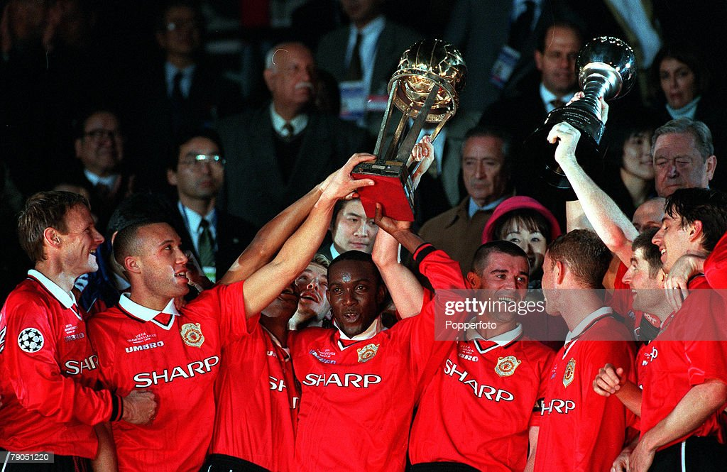 Sport Football Tokyo Japan 30th November 1999 Toyota Intercontinental Cup Manchester United 1 v Palmeiras 0 Manchester United 1999 winners of the...