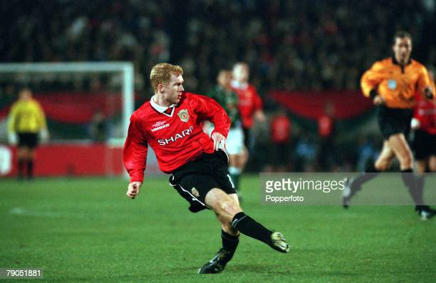 Sport Football Tokyo Japan 30th November 1999 Toyota Intercontinental Cup Manchester United 1 v Palmeiras 0 Paul Scholes/Manchester United