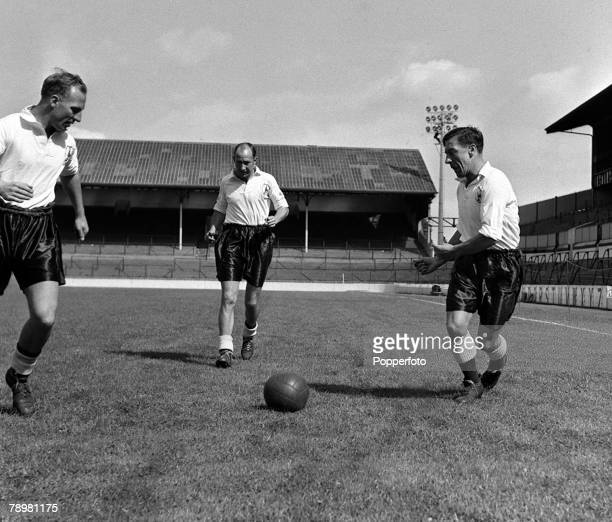 Sport Football Tottenham's new leftwing trio Eddie Bailey Ronnie Burgess and George Robb