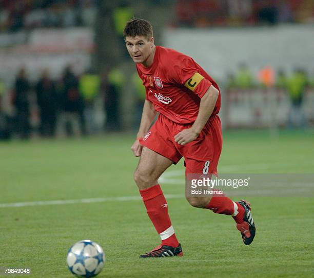 Sport Football UEFA Champions League Final 25th May 2005 Ataturk Stadium Istanbul AC Milan 3 v Liverpool 3 Steven Gerrard of Liverpool
