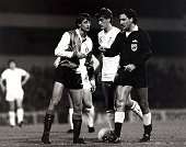 Sport Football UEFA Cup 2nd Round First Leg White Hart Lane London England 18th October 1983 Tottenham Hotspur 4 v Feyenoord 2 Feyenoord's Johan...