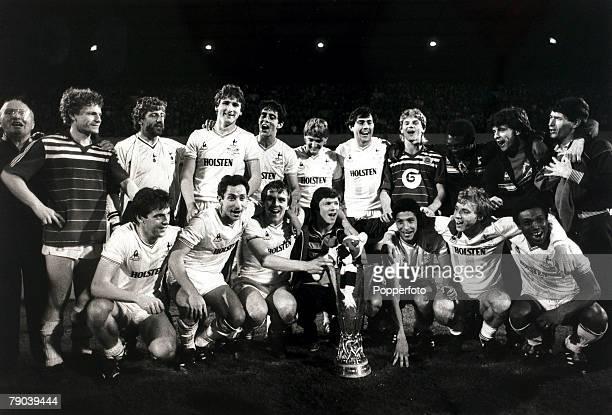 Sport Football UEFA Cup Final Second Leg White Hart Lane London England 23rd May 1984 Tottenham Hotspur 1 v Anderlecht 1 The victorious Tottenham...