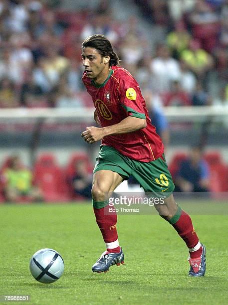 Sport Football UEFA European Championships Euro 2004 Estadio Da Luz Lisbon 16th June 2004 Russia 0 v Portugal 1 Rui Costa of Portugal