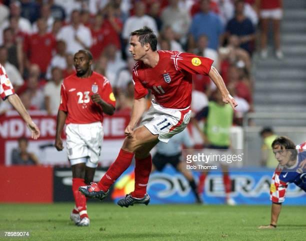 Sport Football UEFA European Championships Euro 2004 Estadio Da Luz Lisbon 21st June 2004 Croatia 2 v England 4 Frank Lampard scores England's fourth...