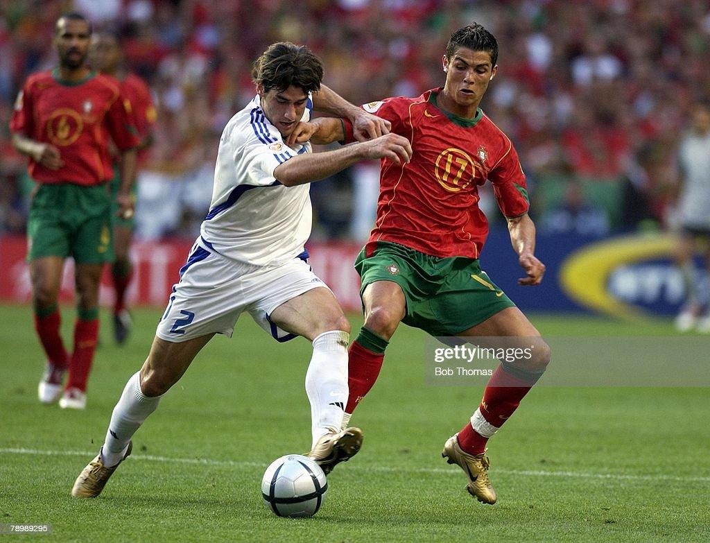 Sport Football UEFA European Championships Euro 2004 Estadio Da Luz Lisbon 4th July 2004 Final Portugal 0 v Greece 1 Georgios Seitaridis of greece...