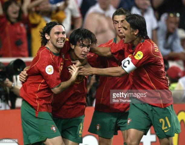 Sport Football UEFA European Championships Euro 2004 Estadio Da Luz Lisbon 24th June 2004 Quarter Final Portugal v England Portugal won 65 on...
