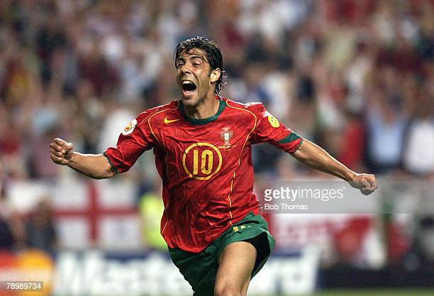 Sport Football UEFA European Championships Euro 2004 Estadio Da Luz Lisbon 24th June 2004 Quarter Final Portugal v England Portugal won 65 on...