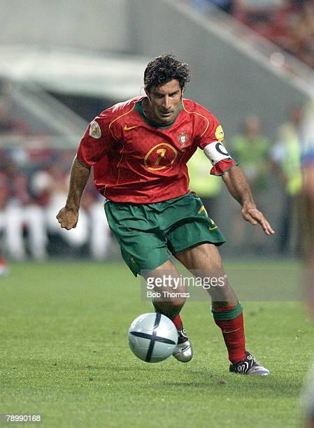 Sport Football UEFA European Championships Euro 2004 Estadio Da Luz Lisbon 16th June 2004 Russia 0 v Portugal 1 Luis Figo of Portugal