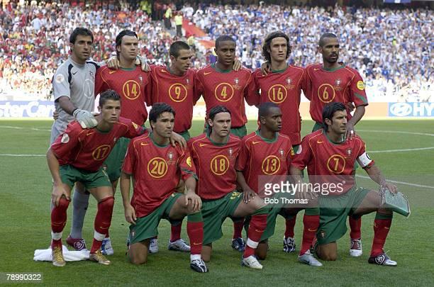 Sport Football UEFA European Championships Euro 2004 Estadio Da Luz Lisbon 4th July 2004 Final Portugal 0 v Greece 1 The Portugal team group Back Row...