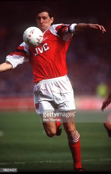 Sport Football Wembley London England CocaCola League Cup Final 18th April 1993 Arsenal 2 v Sheffield Wednesday 1 Arsenal's Tony Adams