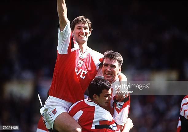 Sport Football Wembley London England FA Cup SemiFinal 4th April 1993 Arsenal 1 v Tottenham Hotspur 0 Arsenal captain and winning goalscorer Tony...