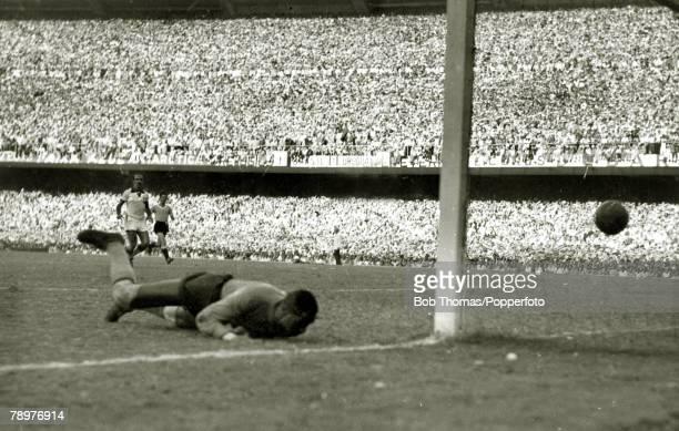 Sport Football World Cup Final 16th July 1950 Maracana Stadium Rio de Janeiro Brazil 1 v Uruguay 2 Brazilian goalkeeper Barbosa has been beaten at...
