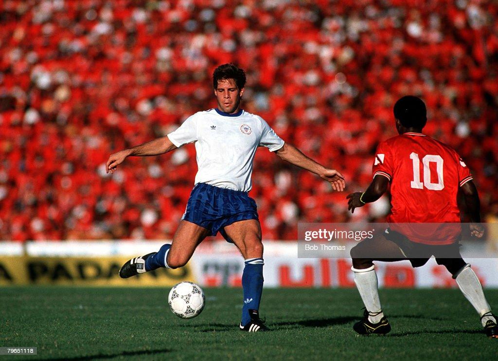 Sport Football World Cup Qualifier Port of Spain 19th November 1989 Trinidad Tobago 0 v USA 1 USA's Paul Caligiuri