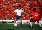 Sport Football World Cup Qualifier Port of Spain 19th November 1989 Trinidad Tobago 0 v USA 1 USA's Paul Caligiuri