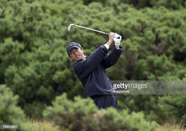 Sport Golf British Open Golf Championship Royal Troon Scotland 17th July 2004 Keiichiro Fukabori of Japan