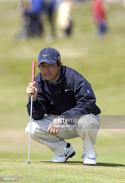 Sport Golf British Open Golf Championship Royal Troon Scotland 18th July 2004 Keiichiro Fukabori of Japan