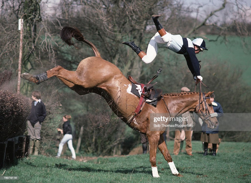 Horses jumping cross country - photo#12