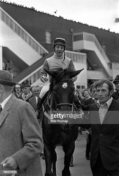 Sport Horse Racing The Grand National Aintree Liverpool England 31st March 1973 The horse Crisp ridden by jockey Richard Pitman is pictured after the...