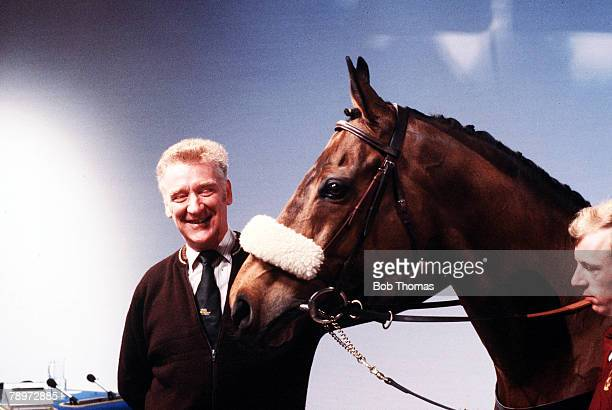Sport HorseRacing A picture of the legendary racehorse Red Rum who won the Grand National an unprecedented 3 times and his trainer Ginger McCain