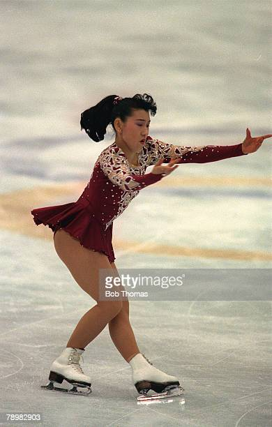 Sport Ice Skating 1992 Winter Olympic Games in Albertville Midori Ito Japan the silver medal winner