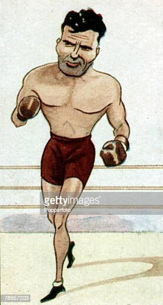 Sport Illustration Boxing Caricature pic circa 1920's Jack Dempsey USA the World Heavyweight Champion 19191926