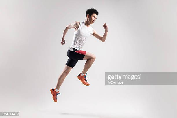 Sport male youth on white background