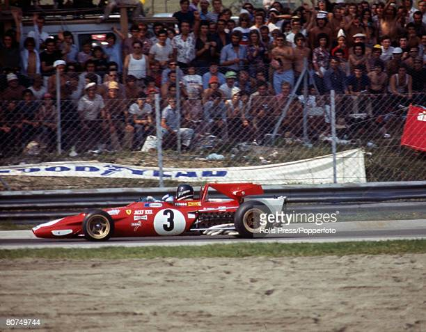 1971 Italian Grand Prix at Monza Belgian driver Jacky Ickx driving the Ferrari during the race at Monza