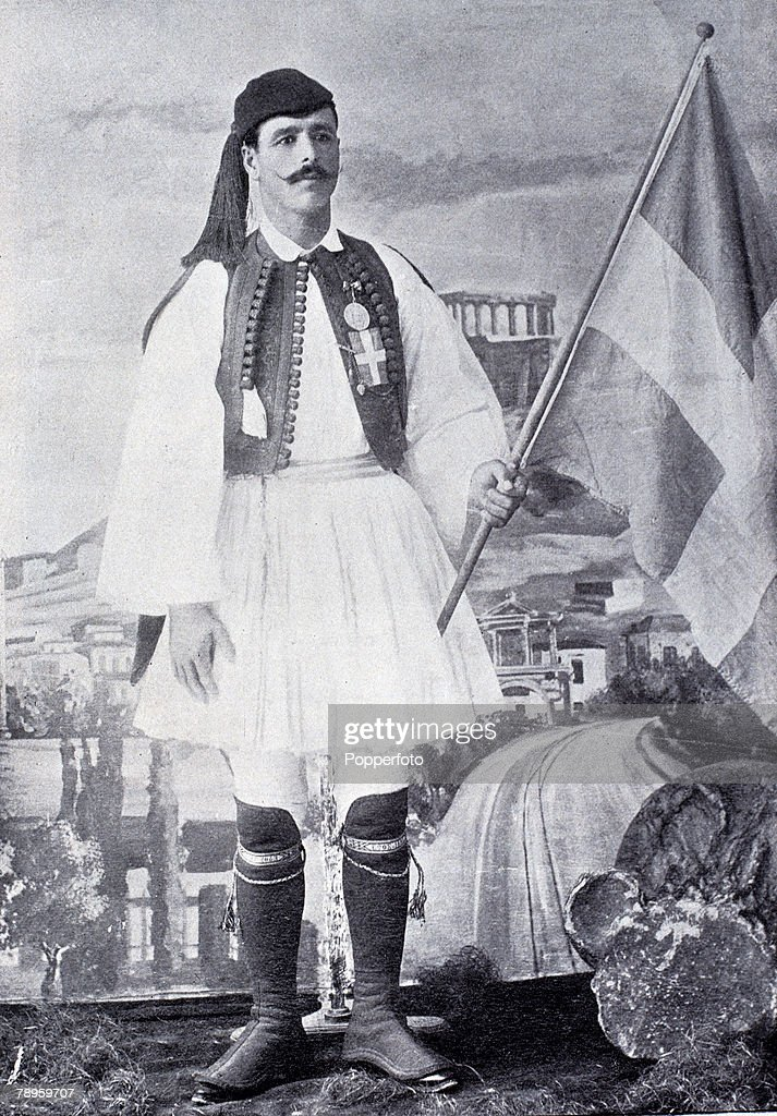 Sport, Olympic Games 1896, Athens, Greece, Spyridon Louis, Greek gold medalist in the Marathon