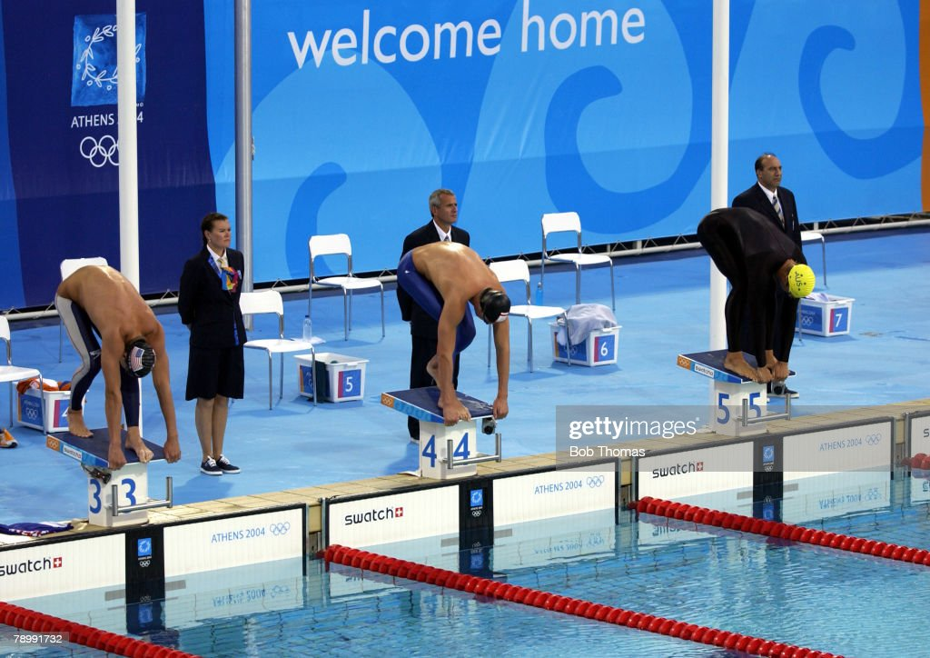 sport olympic games athens greece 16th august 2004 swimming mens - Olympic Swimming Starting Blocks