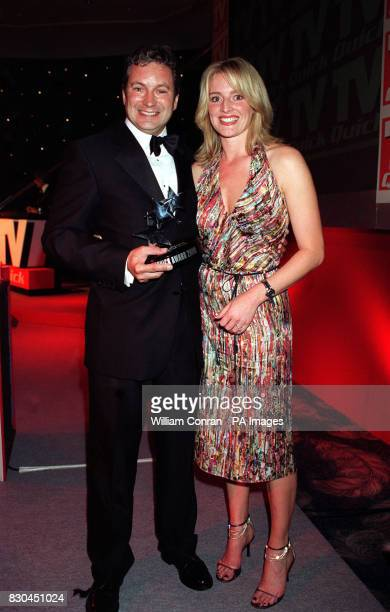 TV sport presenter Gabby Yorath with John Middleton from Emmerdale at the TV Quick Awards held at the Dorchester Hotel in central London
