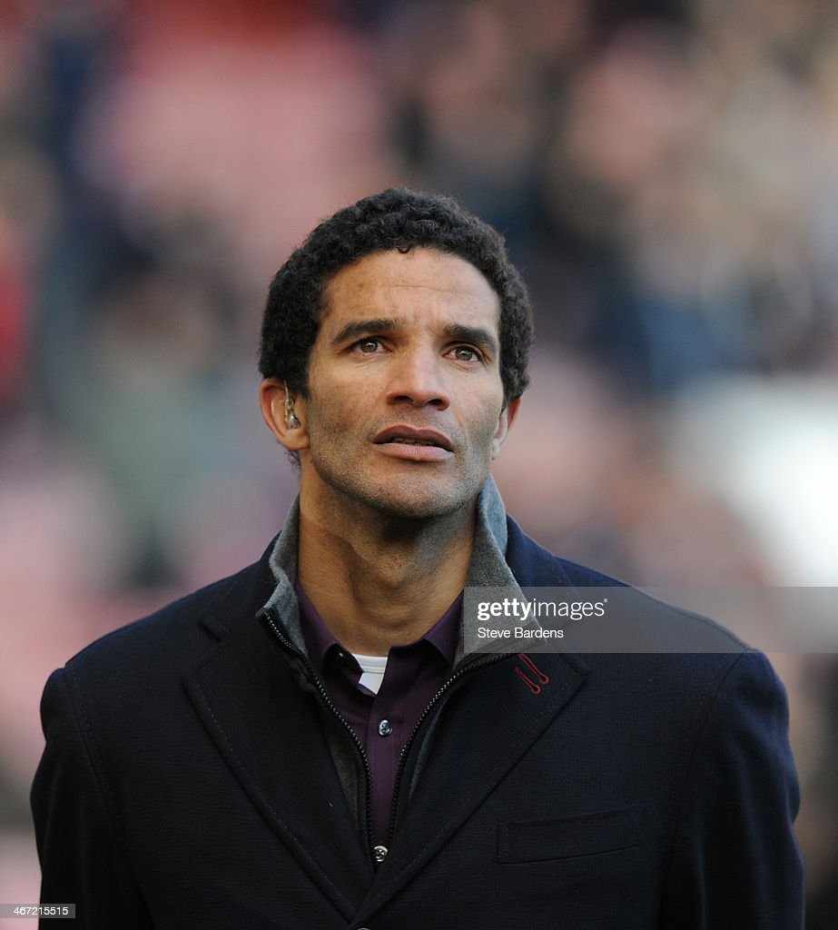 Sport pundit David James before the Barclays Premier League match between West Ham United and Swansea City at Boleyn Ground on February 1 2014 in...