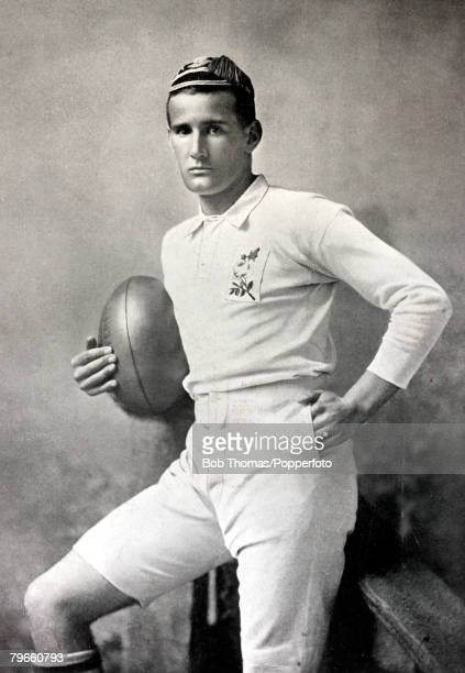 Sport Rugby Union circa 1895 EField who played for Cambridge University and England He was a full back very quick and a penalty and place kicker