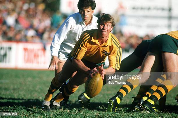 12th June 1988 2nd Test Match in Sydney Australia 28 v England 8 Nick FarrJones Australia scrum half