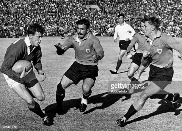 16th June 1962 Northern Transvaal 14 v British Lions 6 British Lions captain Arthur Smith has possession as he beats a Transvaal pair