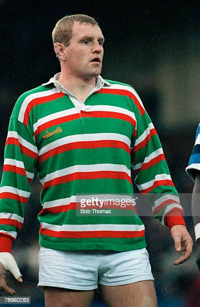 17th November 1990 Courage League Division 1 Dean Richards Leicester who played for England as a no 8 forward from 19861996 in 48 matches