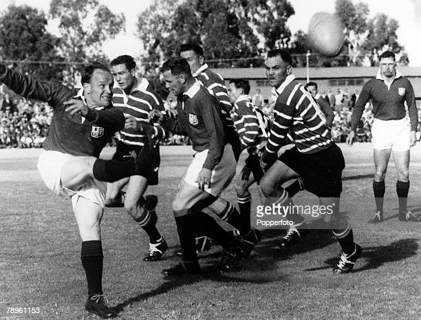 30th May 1962 Griqualand West v British Lions British Lions scrum half Dickie Jeeps kicks upfield