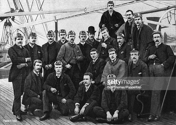 Sport Rugby Union The England Rugby Football team are pictured on board a ship bound for a tour of Australia