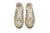 image of sport shoes with spangle isolated on white background