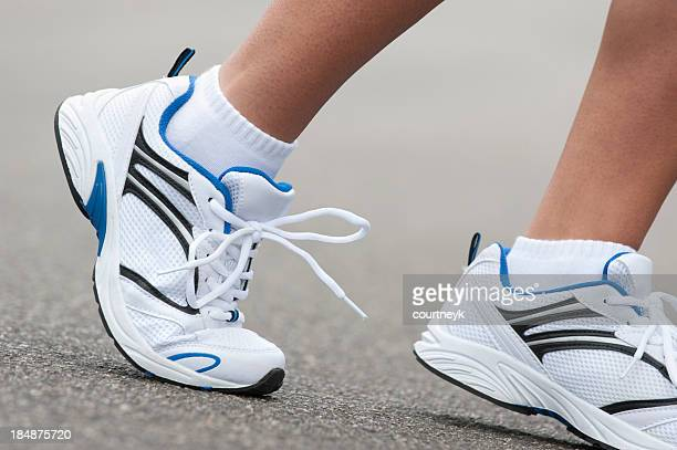 Sport shoes running close-up