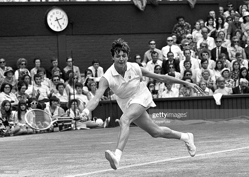 Sport Tennis All England Lawn Tennis Championships Wimbledon England 2nd July 1971 Ladies Singles Final Defending Ladies Champion Australia's...