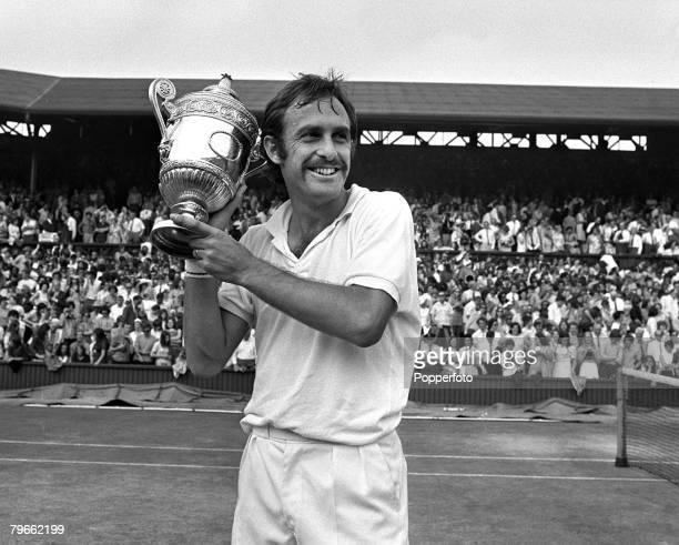 Sport Tennis All England Lawn Tennis Championships Wimbledon England 3rd July 1971 Mens Singles Final Defending Champion Australia's John Newcombe...