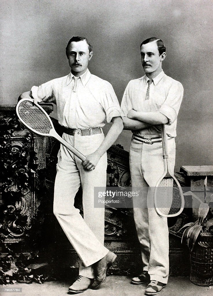 Sport, Tennis, All England Lawn Tennis Championships, Wimbledon, London, England, pic:1880, The Renshaw brothers William, (Willie) and Ernest, who dominated at Wimbledon in the 1880's, William was the more successful winning the Mens Singles 7 times 3 times against Ernest this between 1881-1889, Ernest Renshaw finally won Wimbledon in 1888 when he beat Herbert Lawford