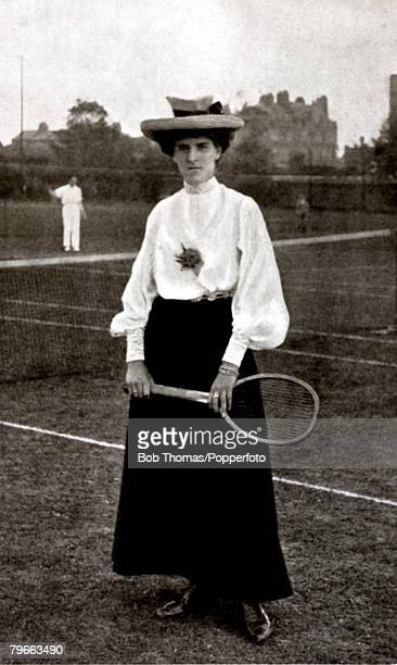 Sport Tennis Dorothea Douglass Great Britain Wimbledon Ladies Singles Champion in 19031906