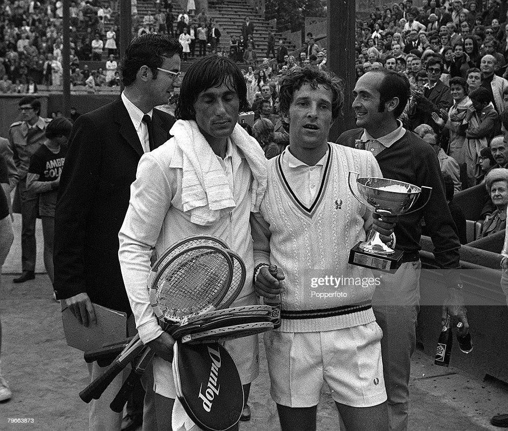 Sport Tennis French Open Final Paris France 6th June 1971