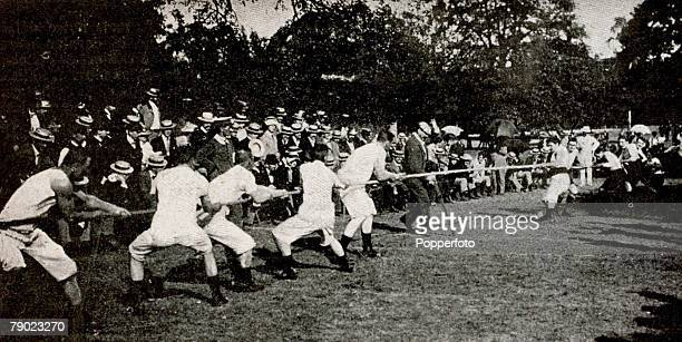 Sport TugofWar 1900 Olympic Games Paris France The TugofWar was a controversial affair it is widely thought that the two teams contesting in the...