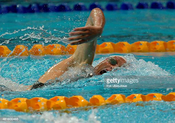 Sport Watersport Swimming Caitlin McClatchy winning the 400m Freestyle during the Commonwealth Games in Melbourne Australia 2006