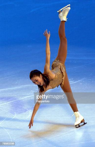 Sport Winter Olympic Games Salt Lake City Utah USA 22nd February 2002 Figure Skating Exhibition Ladies Michelle Kwan USA Bronze medal winner